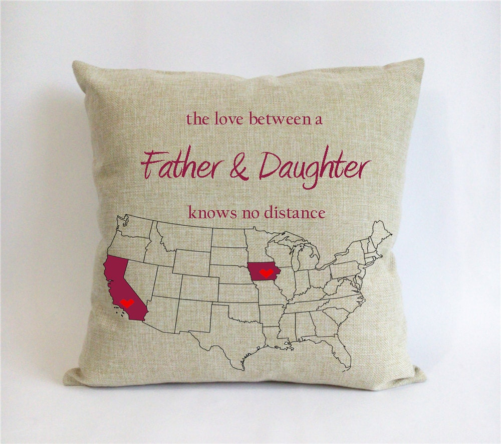 long distance father daughter pillow case fathers day gift
