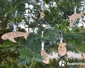 Set of 5 Australian Christmas Laser Cut Decorations