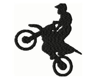 Dirt Bike Embroidery Design 4x4 -INSTANT DOWNLOAD-