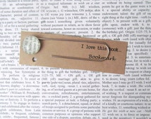 Bilbo, Lord of the Rings bookmark: page marker made with an original book page. Gift idea for Tolkien fans, boyfriend, husband, student.