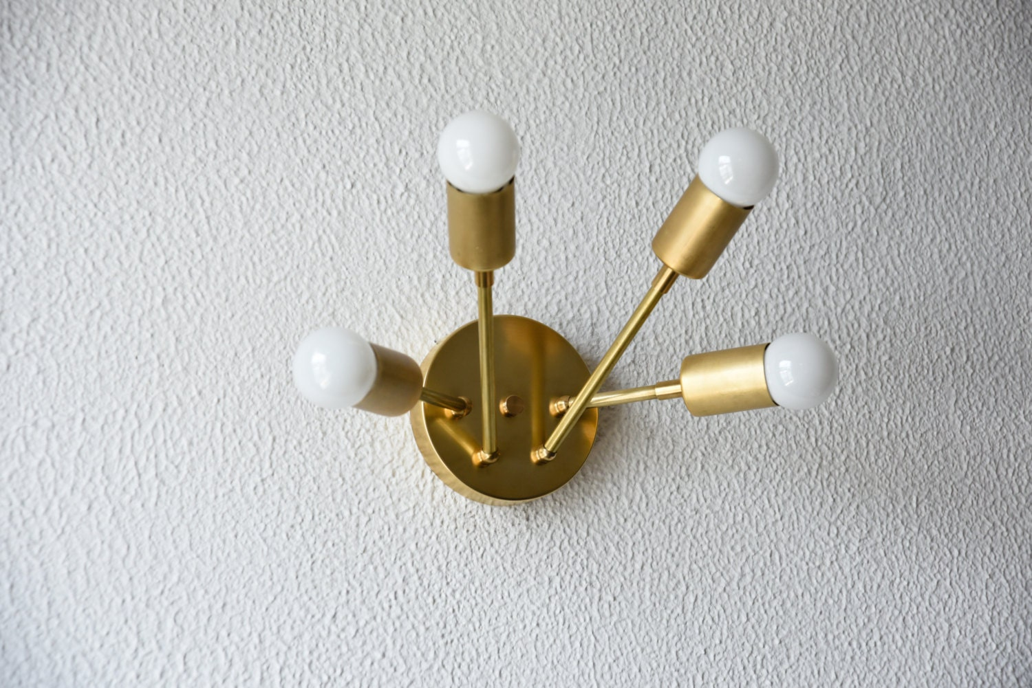 Bathroom Light Fixtures Mid Century Modern free shipping! gold wall sconce vanity brass 4 bulb modern