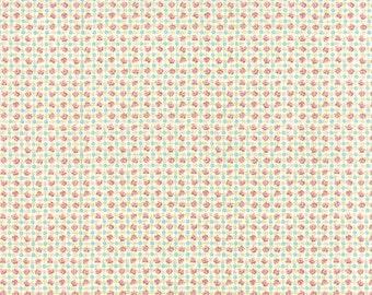 Bespoke Blooms Posie Plaid Linen White - 1/2yd