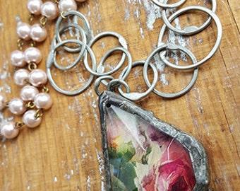 Vintage Chandelier Crystal Necklace