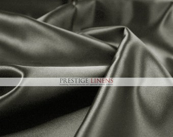 """Lamour Dull Matte Satin Fabric By The Yard - Grey - 60"""" Polyester Wedding Dress - Craft - Sewing"""