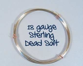 Sterling Silver Wire - 18ga DS - Choose Your Length