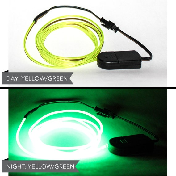 Foot led el wire kit with lithium battery pack neon