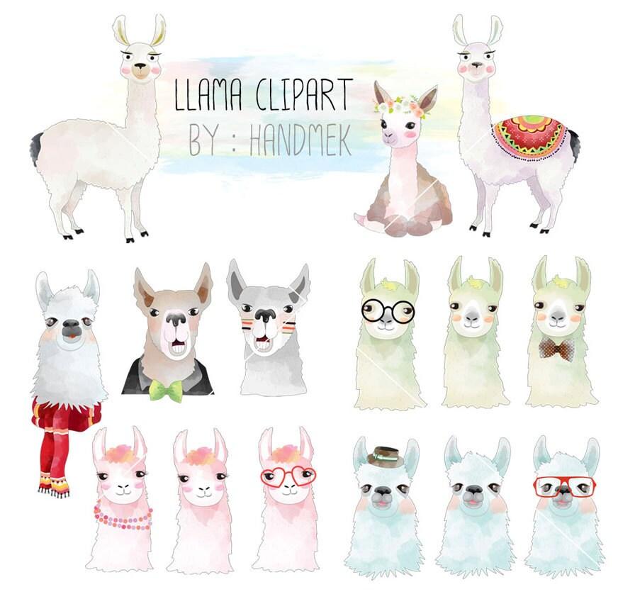 Llama ClipartCute Llama Clip Art Instant Download PNG file