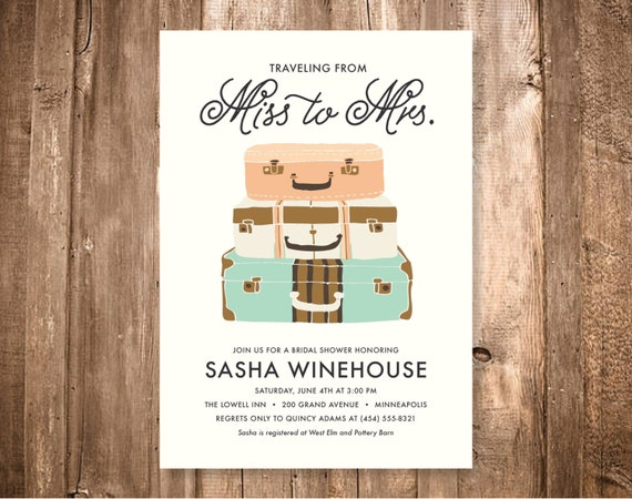 Travel Themed Bridal Shower Invitations was very inspiring ideas you may choose for invitation ideas