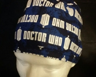 Dr. Who BBC Tie Back Surgical Scrub Hat