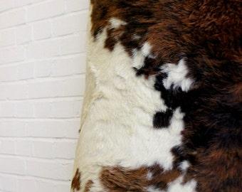 Large Vintage Cow Skin Rug