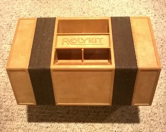 ROLYKIT ~  Tan & Brown ~ No shipping charge.