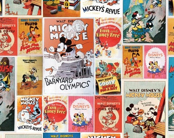 Mickey and Minnie Posters Fabric From Springs Creative