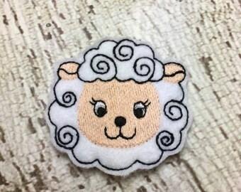 2 Inch Lamb Feltie- In The Hoop - DIGITAL Embroidery Design