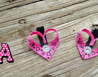 Valentine's Day heart clips * heart clippies* Pig tail sets*baby clip * heart clip