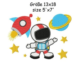 Embroidery Design Outer Space 5'x7' - DIGITAL DOWNLOAD PRODUCT