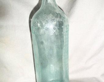 Vintage Moxie Bottle, CC.Co #4 olive green