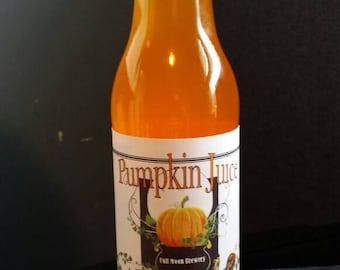 Harry Potter Pumpkin Juice label