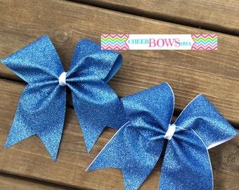 Columbia Blue full glitter bow