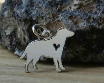 Labrador Retriever Charm, Sterling Silver Labrador Charm, Labrador Retriever Jewelry, Puppy Charm, Dog Lover, Dog Charm, Animal Charm, Lab