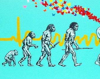 Evolution 19 x 38- Giclee print of Original Painting