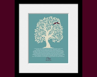 Personalized THANK YOU Poem for Parents, Parent's Wedding Gift, Bride or Groom's Parents Thank You Gift, Wedding Tree Art Print