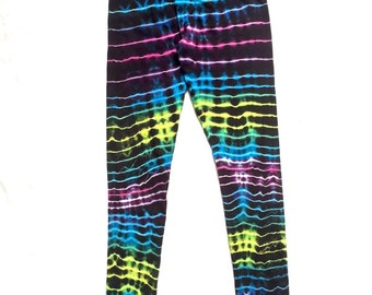 Small Neon Sedimentary Tie Dye Leggings