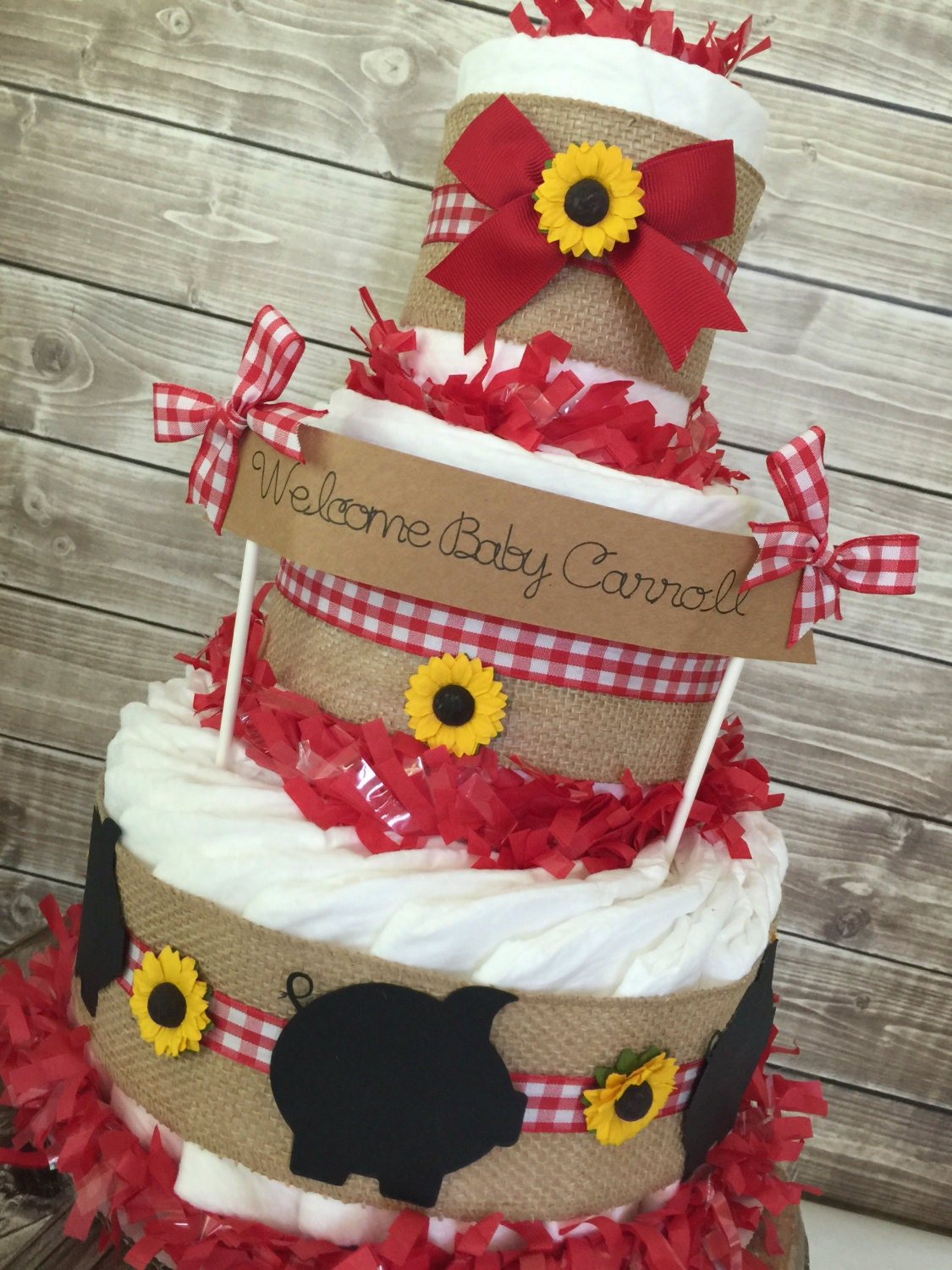 Bbq Baby Shower Centerpiece Farm Baby Shower By Alldiapercakes