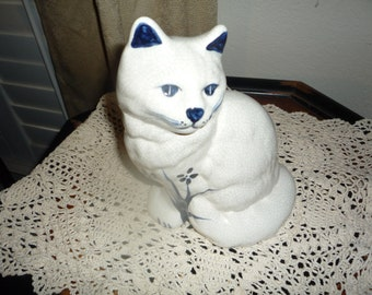 Ceramic Cat Figurine