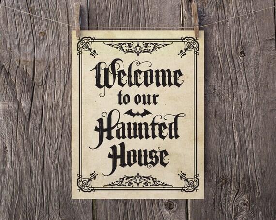 Decorating Ideas > 8×10 Halloween Printable Halloween Art Halloween Print ~ 045651_Halloween Door Signs Printable