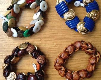 Statement Button Bracelets