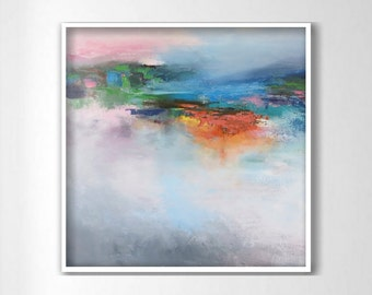 ABSTRACT PAINTING,ORIGINAL, expressionist, Large painting, Acrylic on canvas, square painting