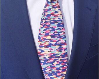 Meadow Rain Tie in Liberty Print / Wedding Tie / Groomsman Tie / Mens Cotton Tie / Liberty Print Tie