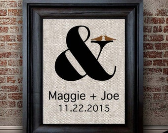Cotton Anniversary Gifts Women | 2 Years Together | 2 Year Anniversary Gift for Wife | Ampersand Cotton Print | Newly Married Gift