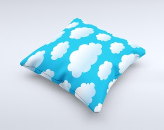 The Cartoon Cloudy Sky  ink-Fuzed Decorative Throw Pillow