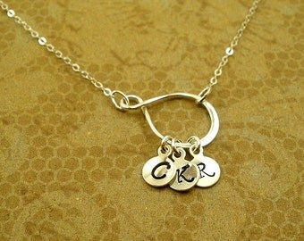 Sterling silver Initial Necklace, Personalized Initial Necklace, Personalized Jewelry, Personalized Charm, Memorable Gifts, Christmas gifts