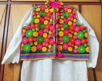 Kutch Embroidered Jackets - Ethnic Indian Jackets - Black Pink