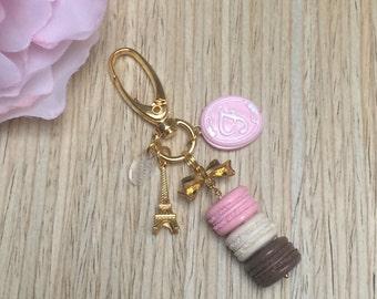 Mini macaron stack planner charm/purse charm - neopolitan charm with monogram