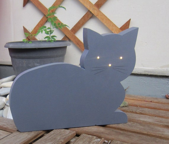 male cat light - bright kitten - light - light decoration