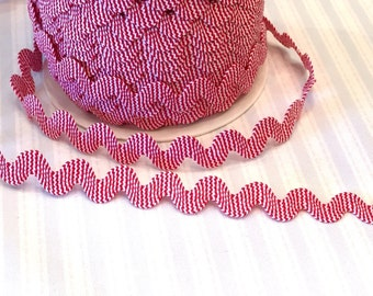 Rickrack stripe red/white