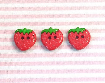 """3 buttons """"Strawberry"""""""