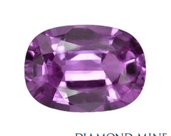A Beautiful NaturalSapphire 1.36 Purple Cushion AAA