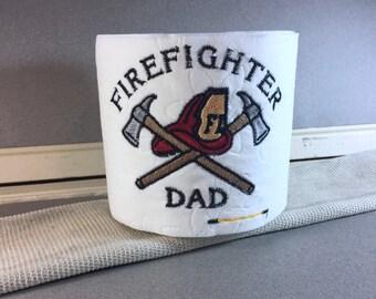 Firefighter Dad Embroidered Toilet Paper, Firefighter Gift, White Elephant Gift, Funny Gag Gift, Joke