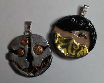 Dishonored Inspired Corvo and Emily Pendants