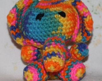 Crazy Colorful Elephant - Handmade Amigurumi Crochet Elephant