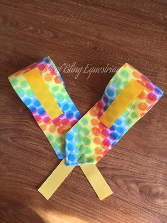 Rainbow Dots Polo Wraps - set of 2