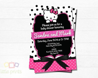 Hello Kitty Baby Shower invites