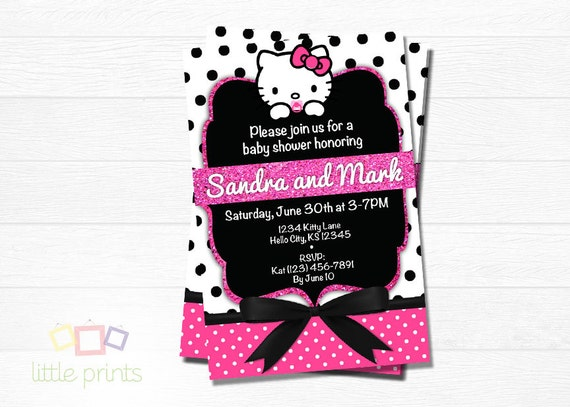 hello kitty baby shower invites by littleprintsbysb on etsy