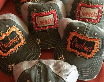 Appliqued sooners, Thunder, Cowboy Hats