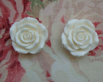 Shabby & Chic Cottage Roses 2 Pcs. Furniture Applique Architectural Onlay