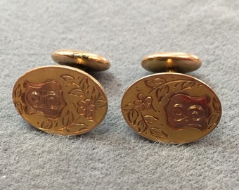 Antique Rolled-gold Engraved Cufflinks